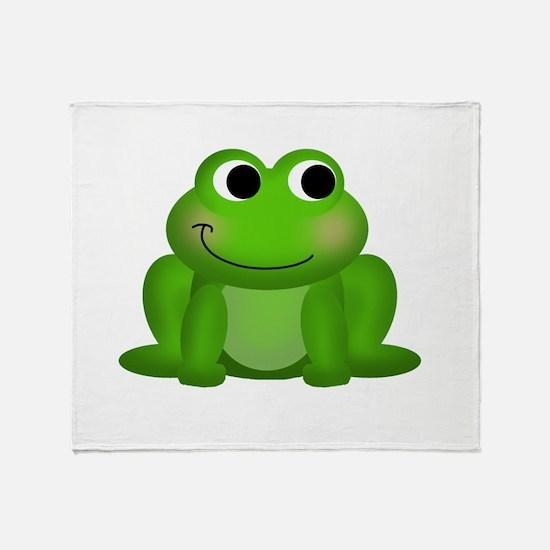 Cute Froggy Throw Blanket