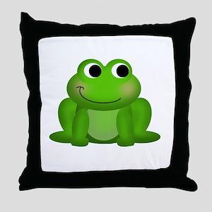 Cute Froggy Throw Pillow