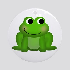 Cute Froggy Ornament (Round)