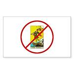 No Fools! Sticker (Rectangle 10 pk)