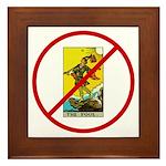No Fools! Framed Tile