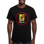 No Fools! Men's Fitted T-Shirt (dark)