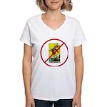 No Fools! Women's V-Neck T-Shirt