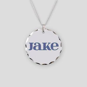 Jake Blue Glass Necklace Circle Charm