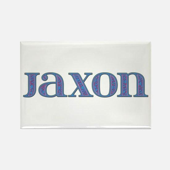 Jaxon Blue Glass Rectangle Magnet