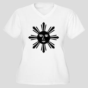 Original Sun Women's Plus Size V-Neck T-Shirt