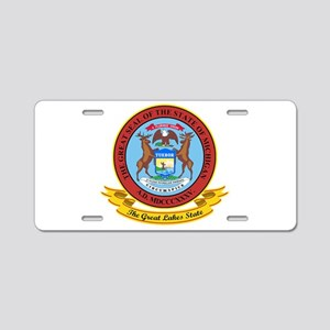 Michigan Seal Aluminum License Plate