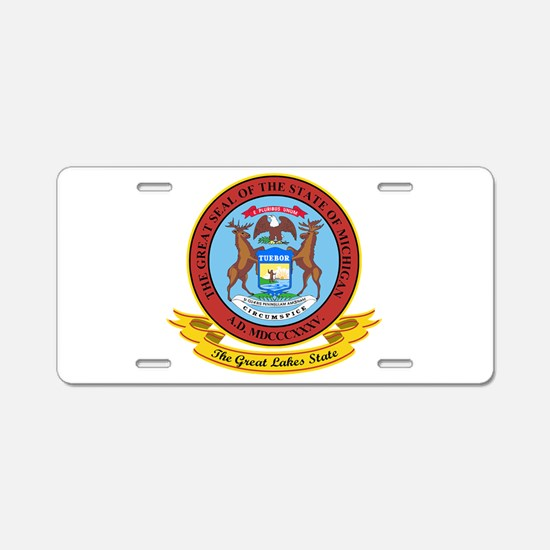 Michigan Seal Aluminum License Plate
