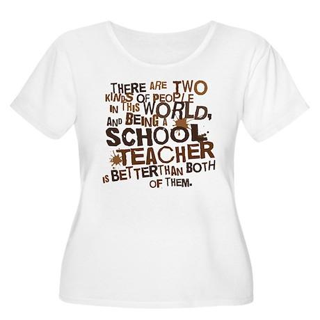 School Teacher (Funny) Gift Women's Plus Size Scoo