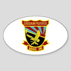 SSI -USMC-MAG 36 Sticker (Oval)
