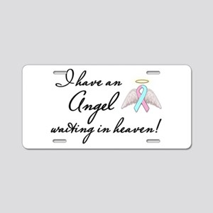 Angel Waiting Aluminum License Plate