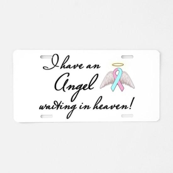 Angel Waiting Aluminum License Plate