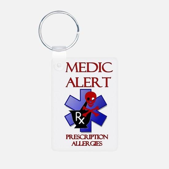 Medic Alert Rx Allergies Keychains