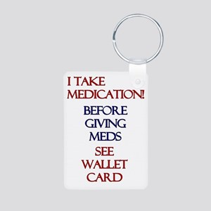 Medic Alert Heart Patient Aluminum Photo Keychain