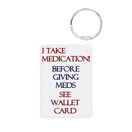 Medic Alert Heart Patient Aluminum Photo Keychain