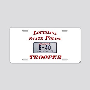 Louisiana State Police Aluminum License Plate
