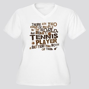 Tennis Player (Funny) Gift Women's Plus Size V-Nec