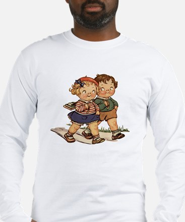 Vintage School Kids Long Sleeve T-Shirt