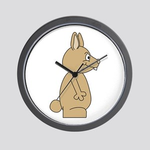 Funny Rabbit Cartoon Wall Clock