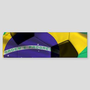 Brasil Futebol Sticker (Bumper)
