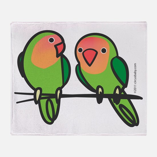 Peach-Faced Lovebirds Throw Blanket