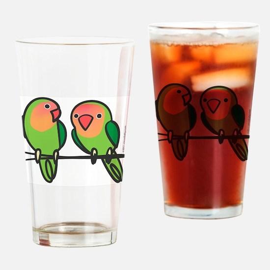 Peach-Faced Lovebirds Drinking Glass