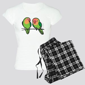 Peach-Faced Lovebirds Women's Light Pajamas