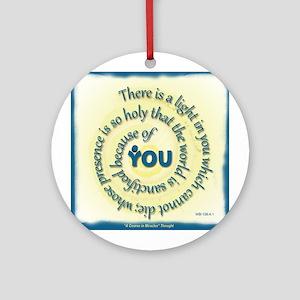 ACIM-A Light in You Ornament (Round)