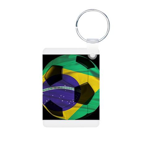 Brasil Futebol Aluminum Photo Keychain
