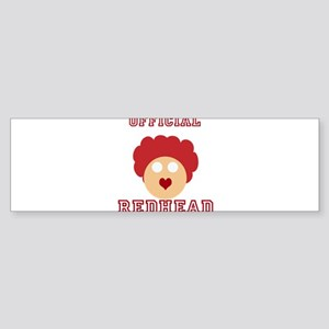 Official Redhead Sticker (Bumper)