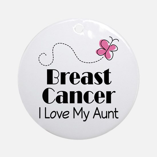 Breast Cancer Love My Aunt Ornament (Round)