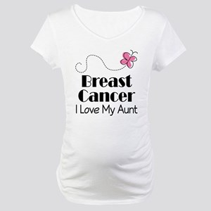 Breast Cancer Love My Aunt Maternity T-Shirt