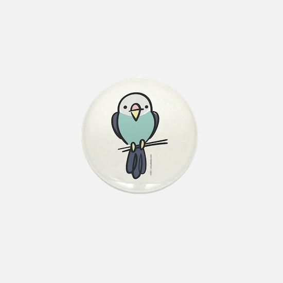 Blue Parakeet Mini Button