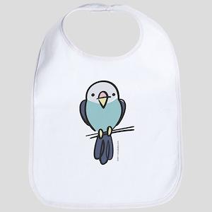 Blue Parakeet Bib