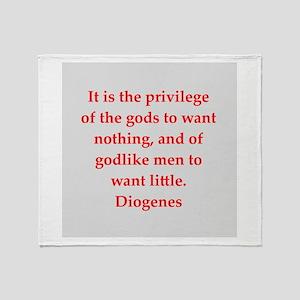 Wisdon of Diogenes Throw Blanket
