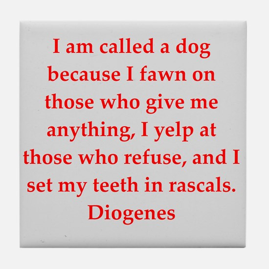 Wisdon of Diogenes Tile Coaster