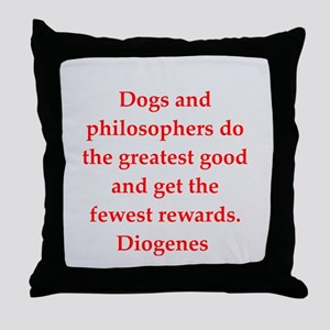 Wisdon of Diogenes Throw Pillow