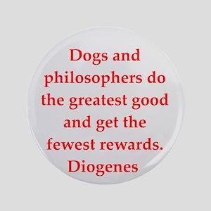 "Wisdon of Diogenes 3.5"" Button"