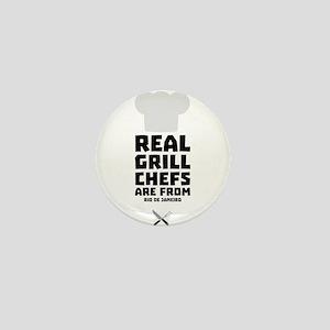 Real Grill Chefs are from Rio de Janei Mini Button