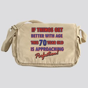 Funny 70th Birthdy designs Messenger Bag