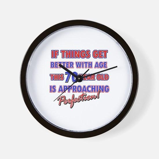 Funny 70th Birthdy designs Wall Clock