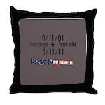 9-11 / United Never Forgotten Throw Pillow