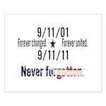 9-11 / United Never Forgotten Small Poster