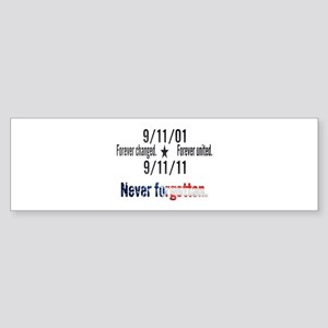 9-11 / United Never Forgotten Sticker (Bumper)