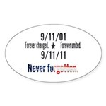 9-11 / United Never Forgotten Sticker (Oval 10 pk)