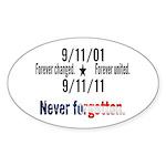 9-11 / United Never Forgotten Sticker (Oval 50 pk)