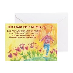 Leap Year Rhyme Greeting Cards (Pk of 20)