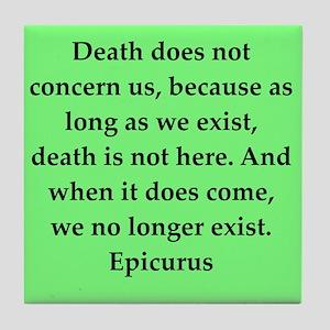 Wisdon of Epicurus Tile Coaster