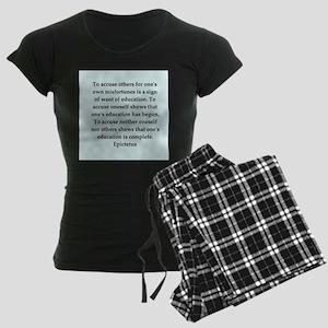 Wisdon of Epictetus Women's Dark Pajamas