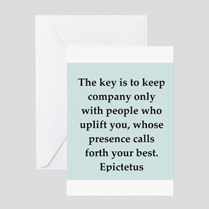 Wisdon of Epictetus Greeting Card